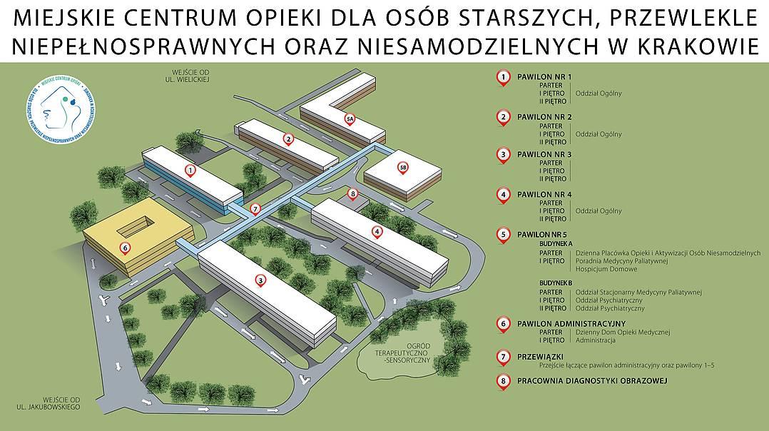 Mapa Centrum Zaklad Opiekunczo Leczniczy W Krakowie